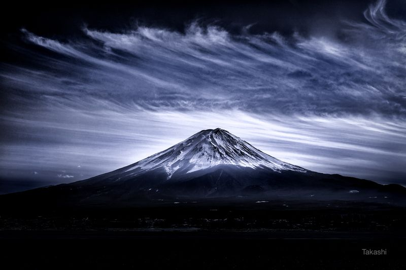 fuji,japan,mountain,cloud,blue,beautiful,amazing,landscape,snow, Cirrus cloudphoto preview