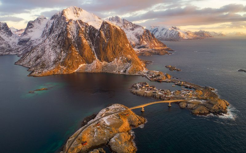 lofoten, norway, hamnoy Arctic Morningphoto preview