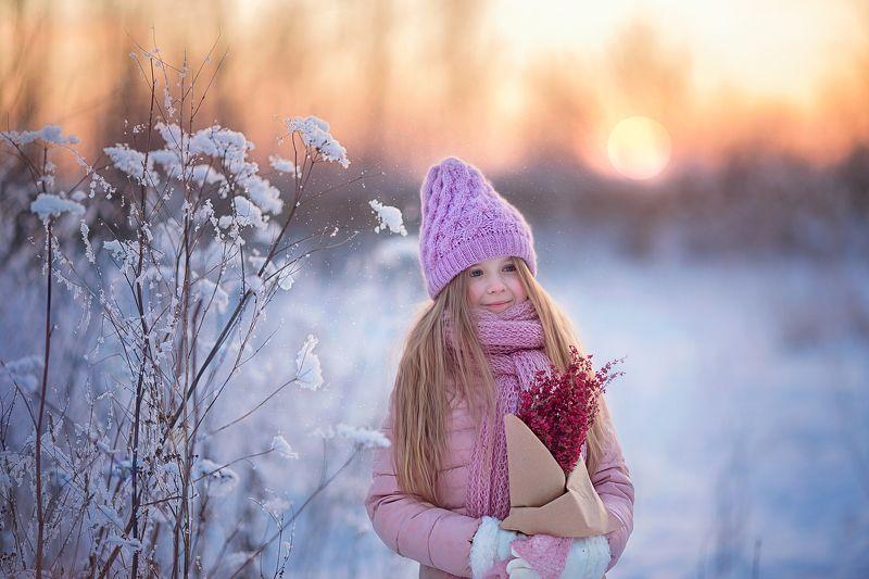зима, февраль, девочка, портрет Скоро веснаphoto preview