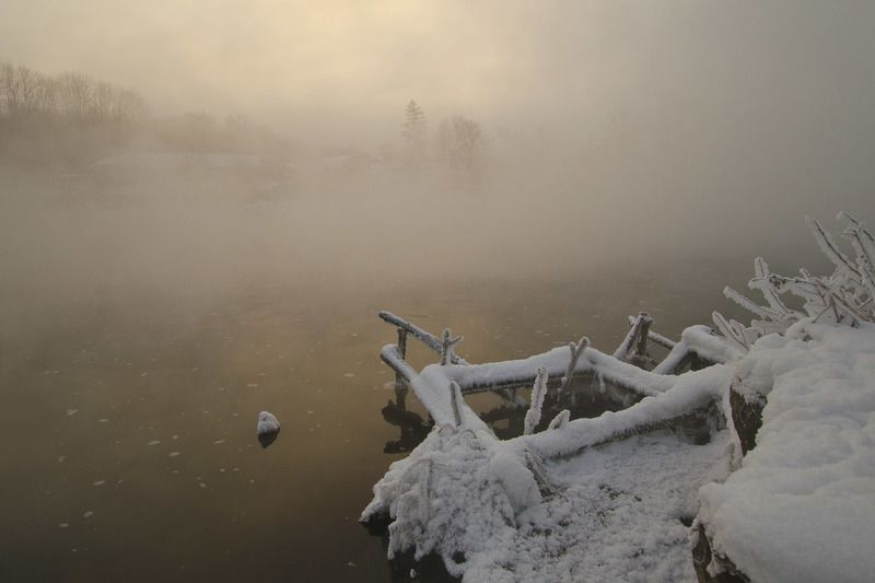 зима, озеро, горячка Холодное очарование Горячкиphoto preview