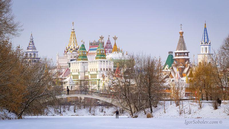Измайлово, Измайловский кремль, зима, Izmailovo, Izmailovo Kremlin, winter Измайловский кремль зимойphoto preview