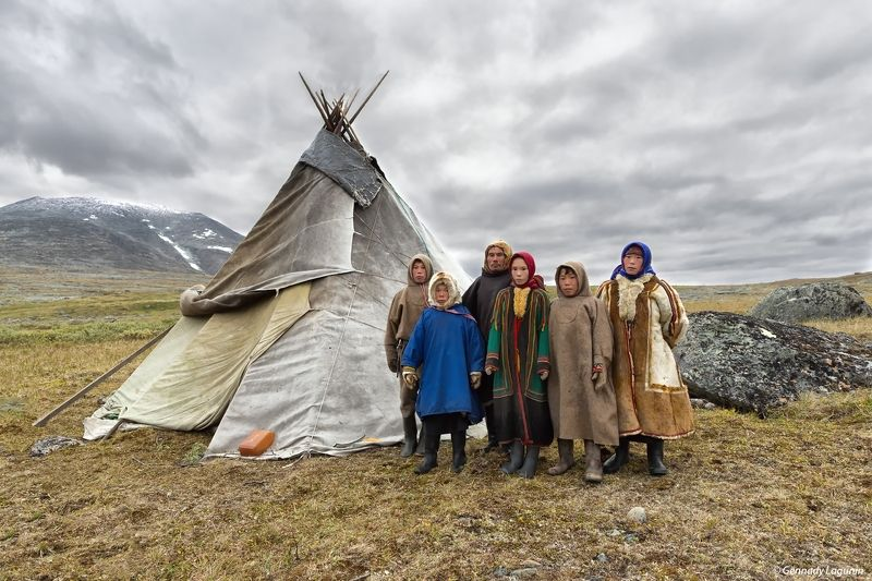 тундра, ненцы, оленеводы, чум, север, полярный урал Мы Ненцыphoto preview