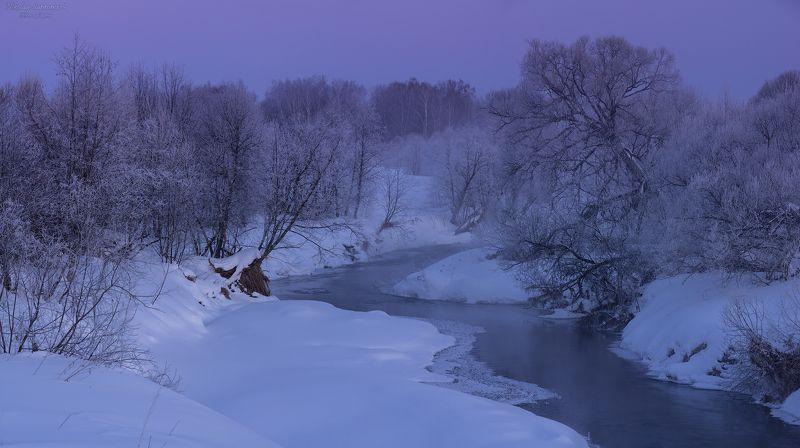 ивановская область, кинешемская епархия, храмы, река, мороз, утро, иней, рассвет, морозы Мартовские морозы в глубинкеphoto preview