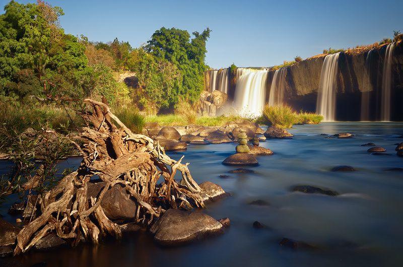 dray nur, waterfall, vietnam,  dak lak, nisi, Водопад Dray Nur.photo preview