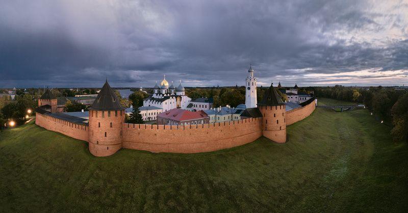 новгород, кремль, сумерки Новгородский детинецphoto preview