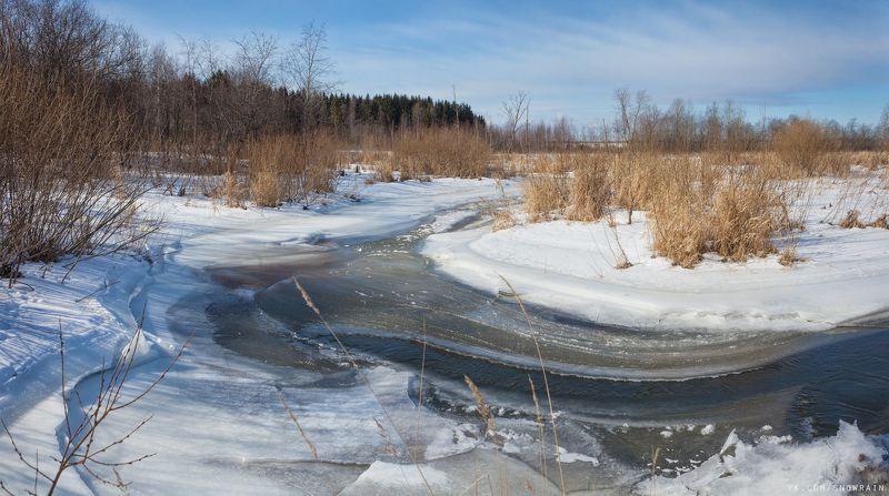 пейзаж, природа, облака, река, путешествия, travel, wildlife, nature, river, clouds, winter, landscape, зима, лед, ice, snow, frozen Зимняя рекаphoto preview