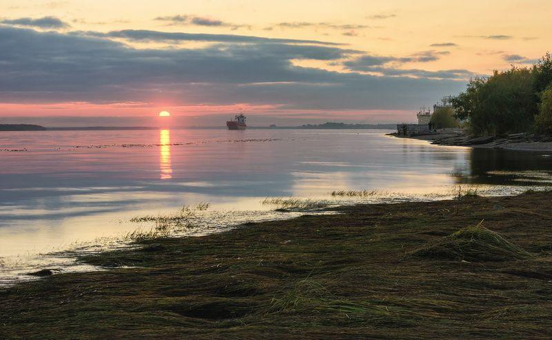 город архангельск осень набережная закат И опять уходит деньphoto preview