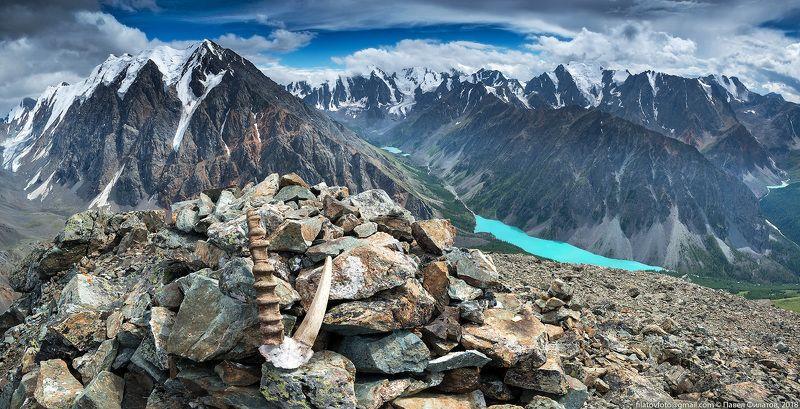 алтай, сибирь, шавлинские озера, панорама, лето С Пирамидыphoto preview