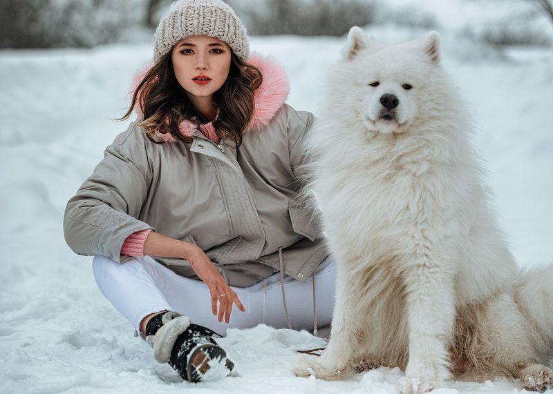 портрет, девушка, пленер, зима Зимняя идиллия...photo preview