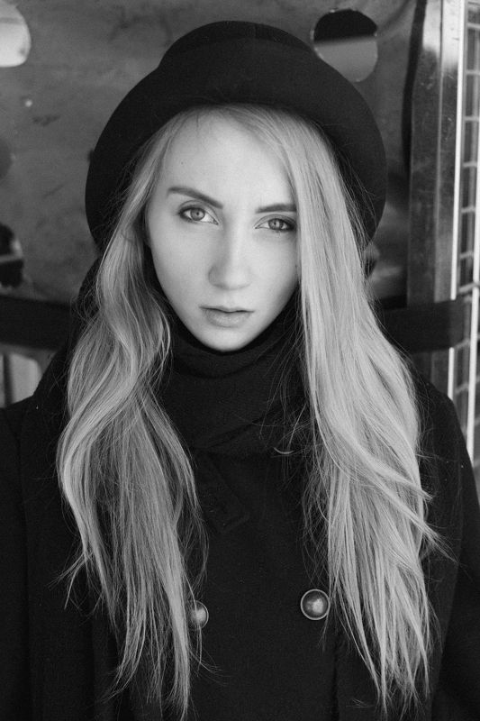 #girl #portrait #bw Еленаphoto preview