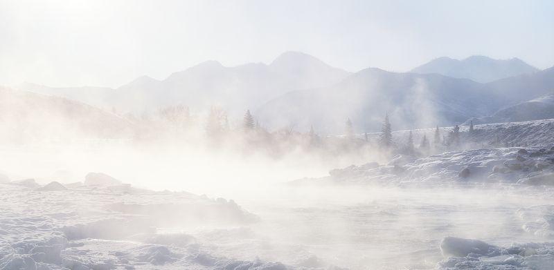...Морозный туман Катуни...photo preview