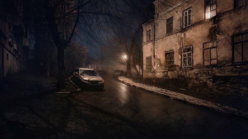 город, ночь, провинция, туман Флёрphoto preview
