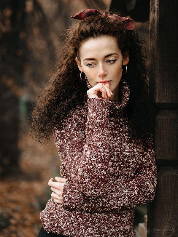 девушка, портрет, пленэр, осень, листопад Осенний романс ;)photo preview