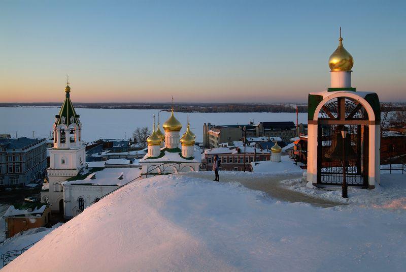 закат, нижний новгород, кремль Нижегородские закатыphoto preview