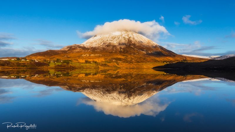ireland, landscape, donegal, mountain, lake, still, winter Errigal in Co. Donegal - Irelandphoto preview