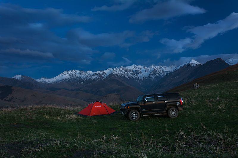 природа, пейзаж, горы, кавказ, весна, ночь, На ночевкеphoto preview