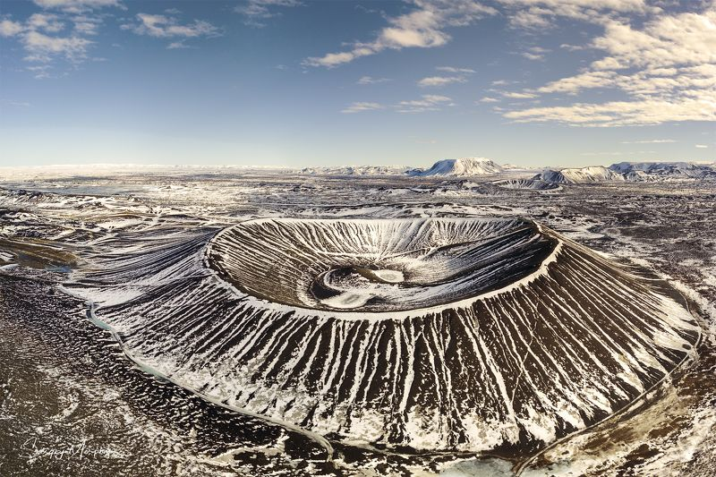 hverfjall, crater, iceland, dji, arial Hverfjall Crater. Iceland.photo preview