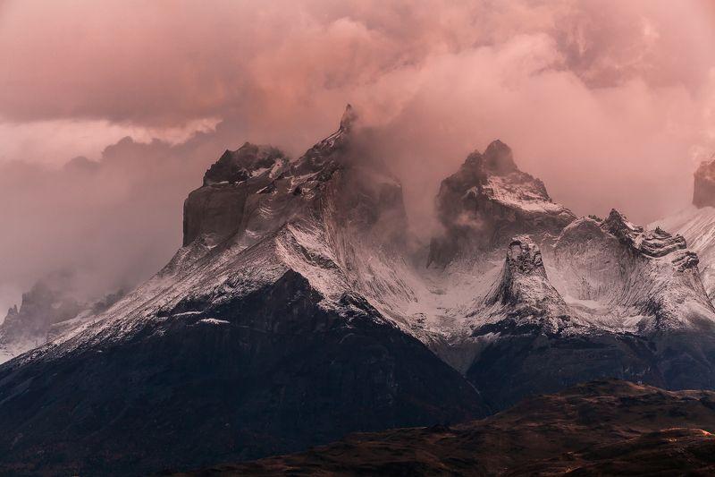 патагония, горы, рассвет, торес дель пайне Разрывая небоphoto preview