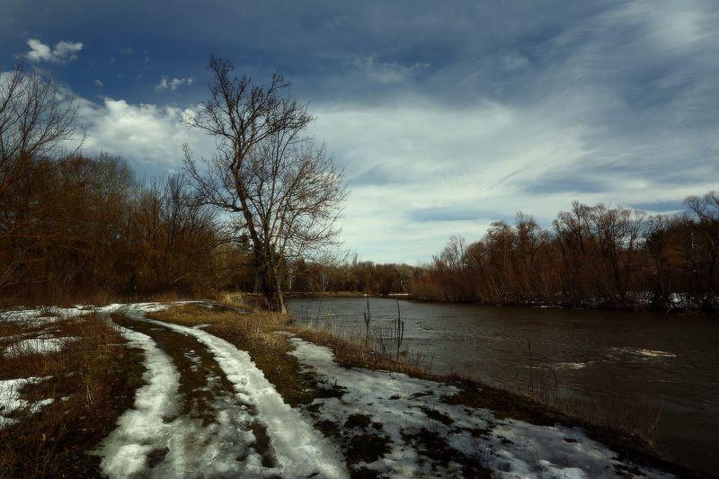 март весна река дорога 32 мартаphoto preview