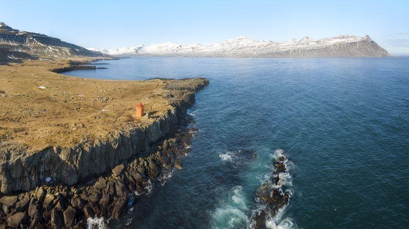 lighthouse., faskrudsfjordur., iceland Lonely lighthouse. Faskrudsfjordur. Icelandphoto preview