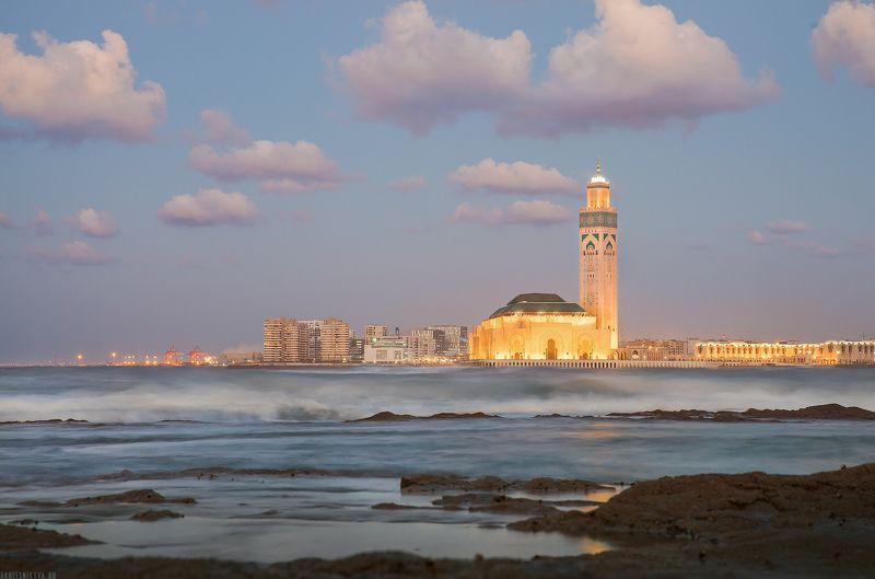 morocco, casablanca, travel, traveller, landscape, new, sunset, ocean, city, africa, путешествие, океан, закат, африка, касабланка, марокко Hassan II Mosquephoto preview