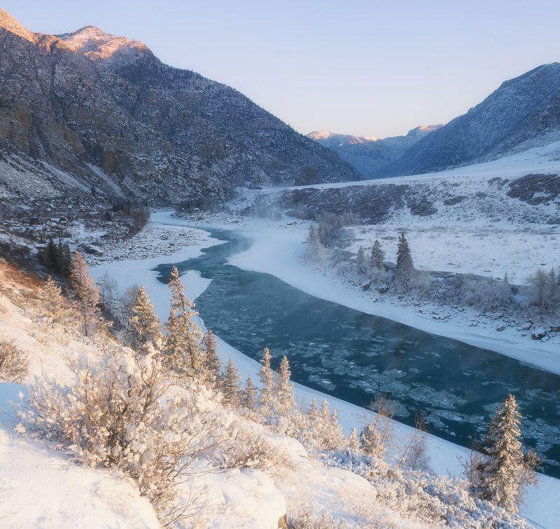...Утро на реке Катунь...photo preview