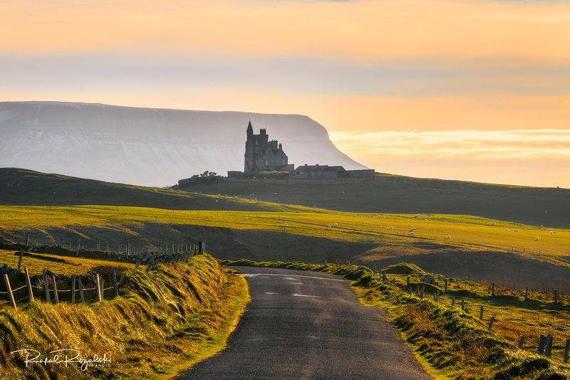 ireland, landscape, sligo, mountains. castle, road,  Classiebawn Castle - Irelandphoto preview