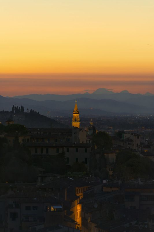 florence, italy Sunset over Florencephoto preview