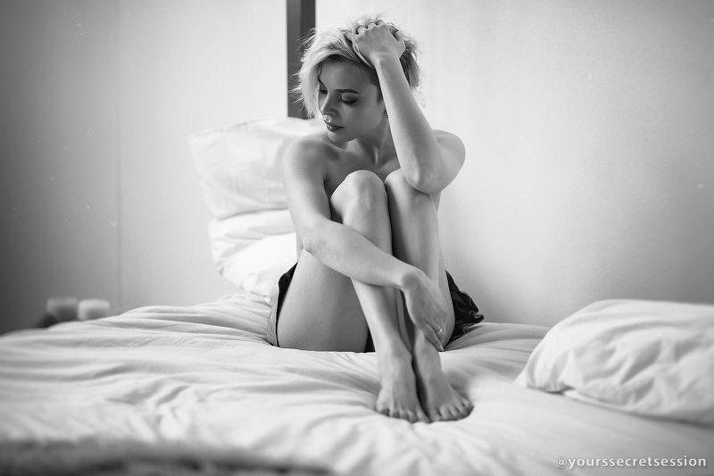 ню, девушка, портрет, чб Сокорphoto preview
