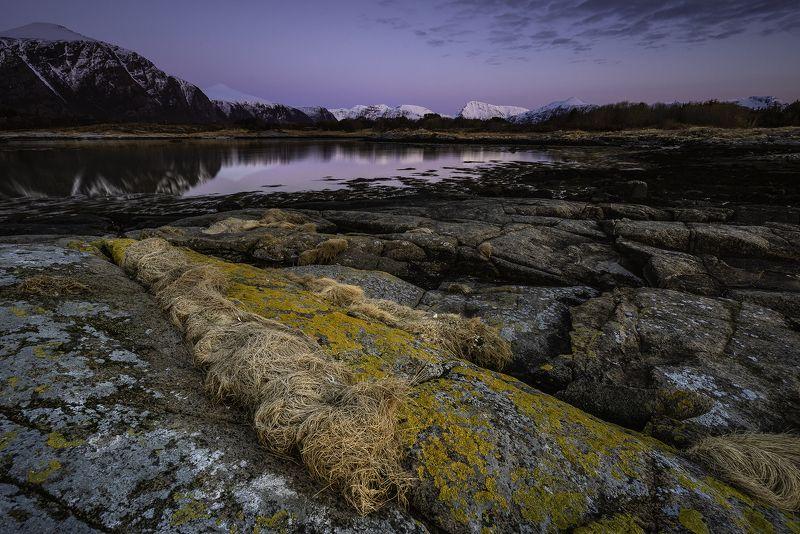 blue hour, landscape, rocks, beach, norway, evening, sunset, storholmen, hustadvika, more og romsdal, Blue hourphoto preview