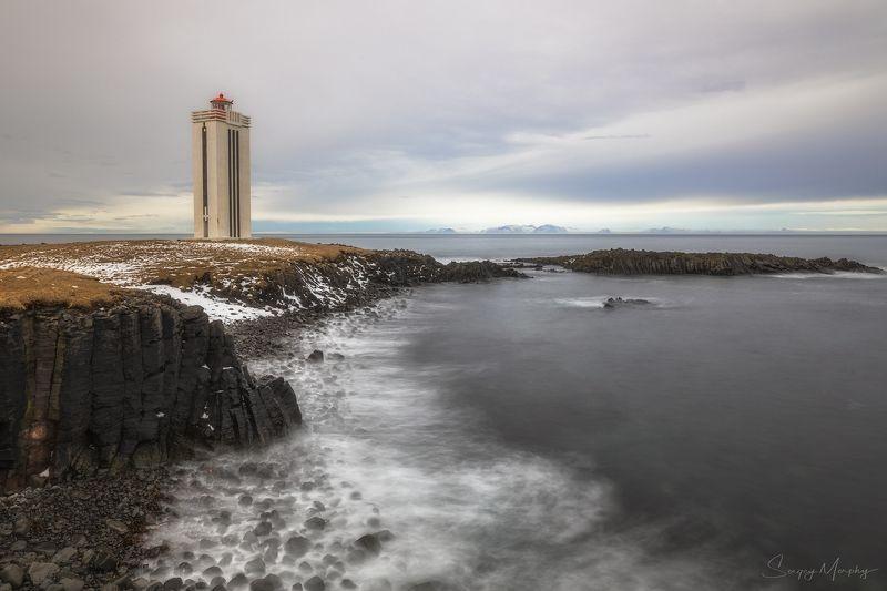 kalfshamarsviti lighthouse basalt rocks Kalfshamarsviti lighthouse & basalt rocks.photo preview