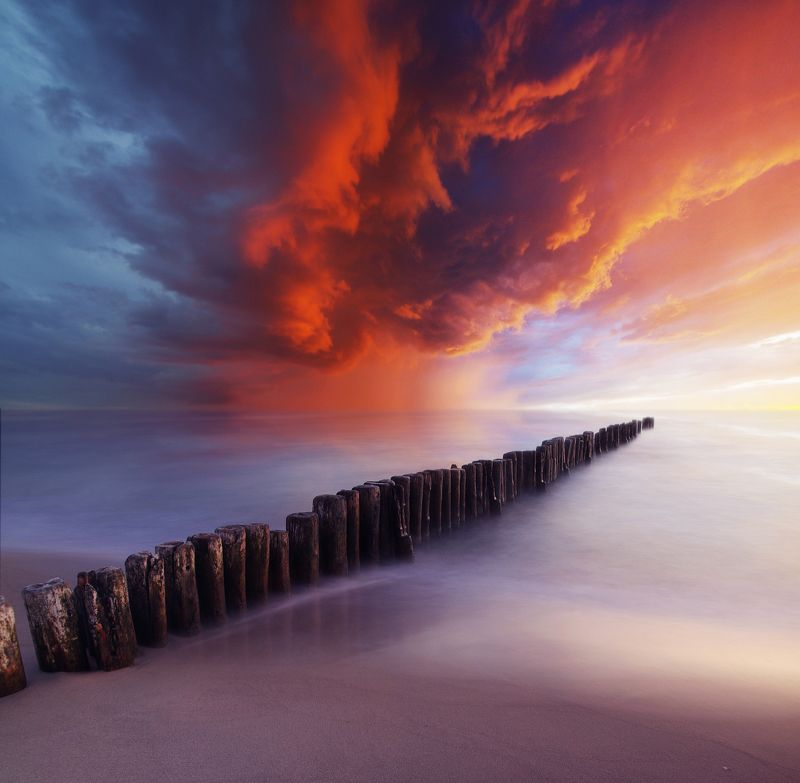 Lithuania, sky, sea, clouds, sand, beach *photo preview