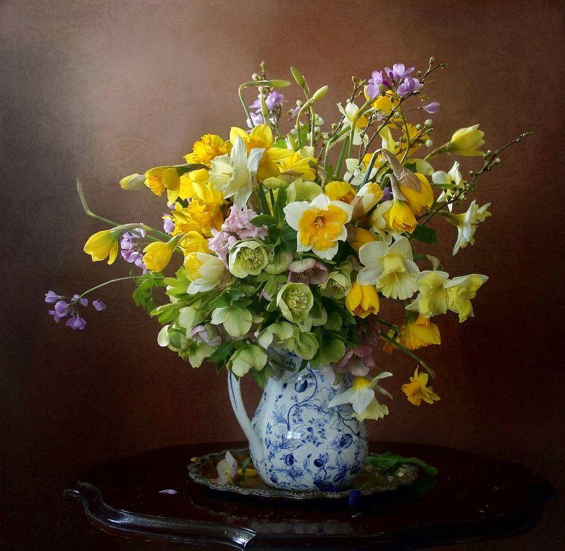 весна, цветы, первоцветы, натюрморт, марина филатова Весенняя рапсодияphoto preview