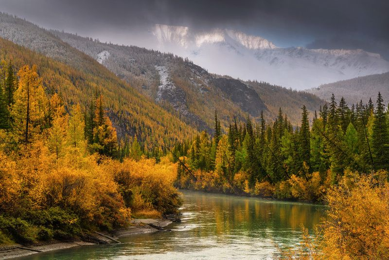алтай, сибирь, куркурек, чуя, осень Грань Куркурекаphoto preview