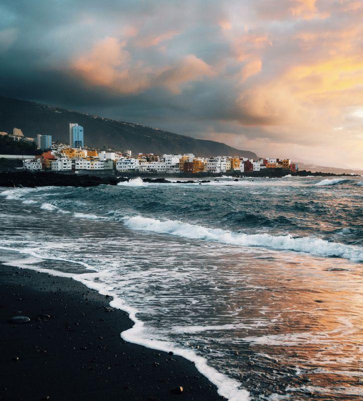 канары, испания, тенерифе, canary, island, tenerife, spain,  На закатеphoto preview