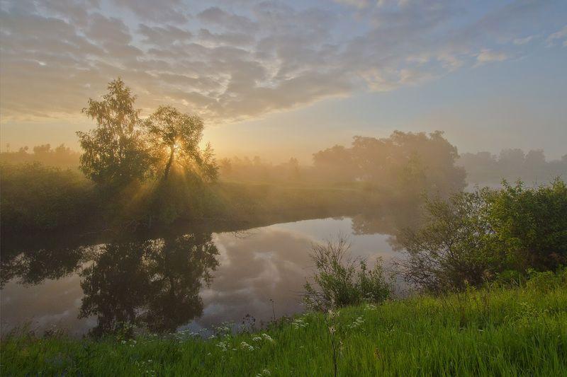 пейзаж, утро, рассвет Лучистая энергия рассветаphoto preview