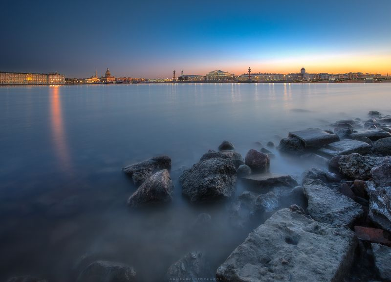 Питер, город, вечер, пейзаж Стрелка Васильевского островаphoto preview