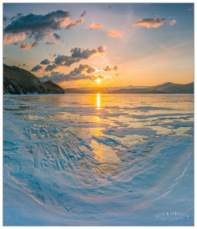 байкал, огой, лёд, восход Байкальский рассветphoto preview