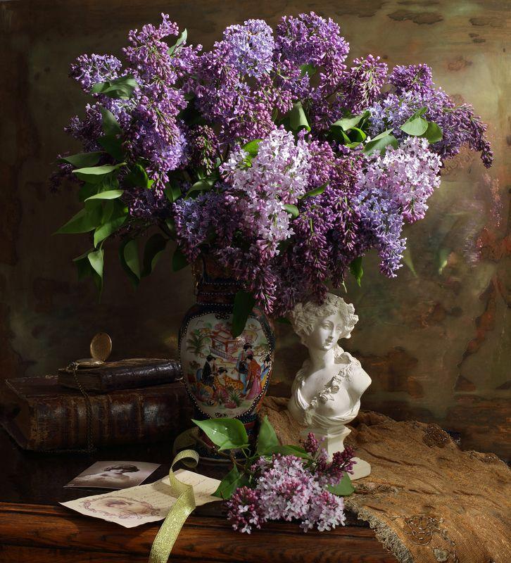 цветы, сирень, девушка, музыка, весна, натюрморт Весенняя мелодияphoto preview