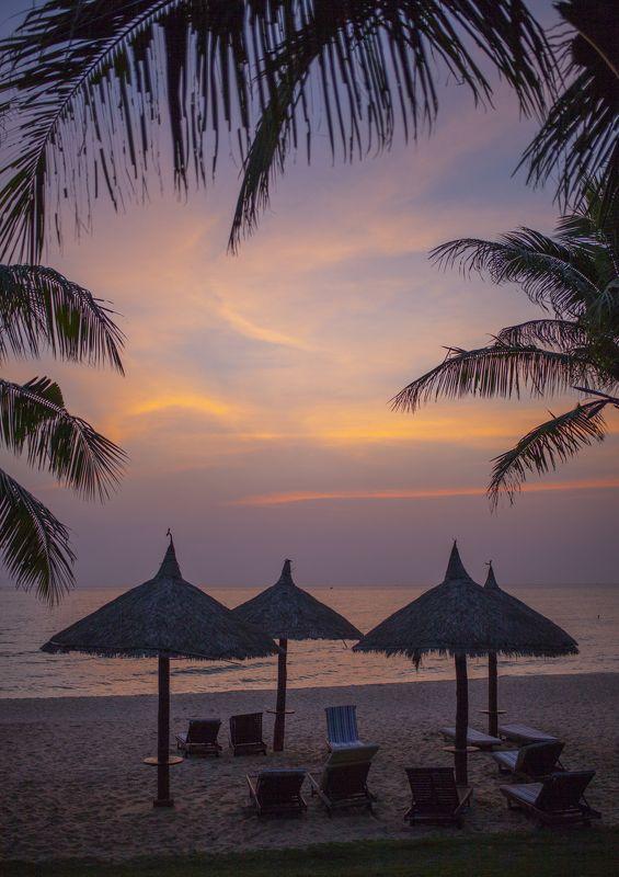 вечер, пейзаж, море, закат, путешествие, вьетнам, красиво Вечерело...photo preview