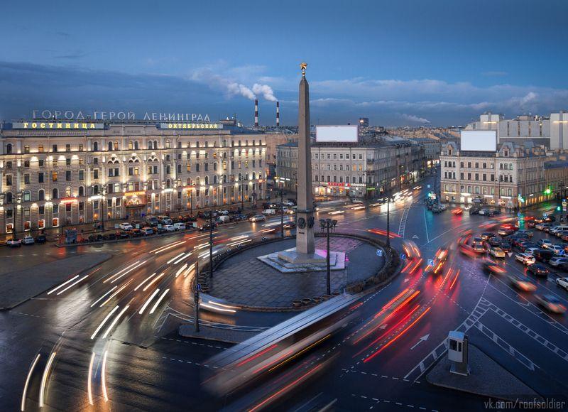санкт-петербург, крыша, выдержка, закат, вечер, дождь, город, пейзаж Воронкаphoto preview