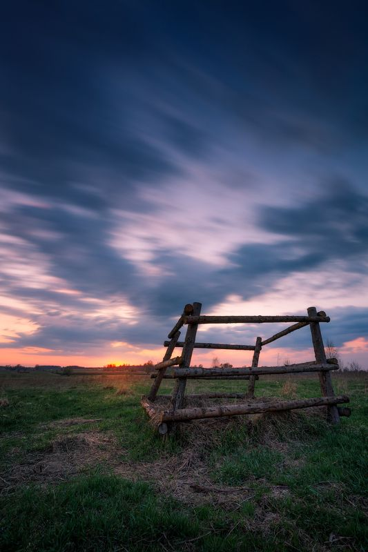 sky clouds long exposure Poland Podlasie spring mood Summer spring in Podlasie...photo preview