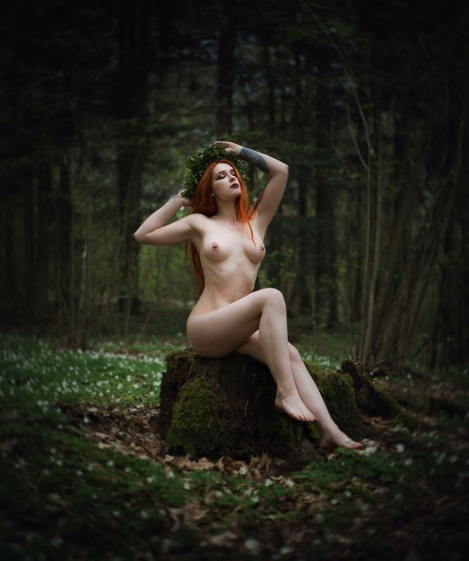 nude, sensual, light, pagan, nature, model, slavic, fairytales Astathrephoto preview