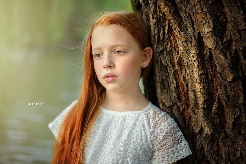 girl, portrait, девочка, портрет, весна, spring, red, рыжая, рыжик Аринаphoto preview
