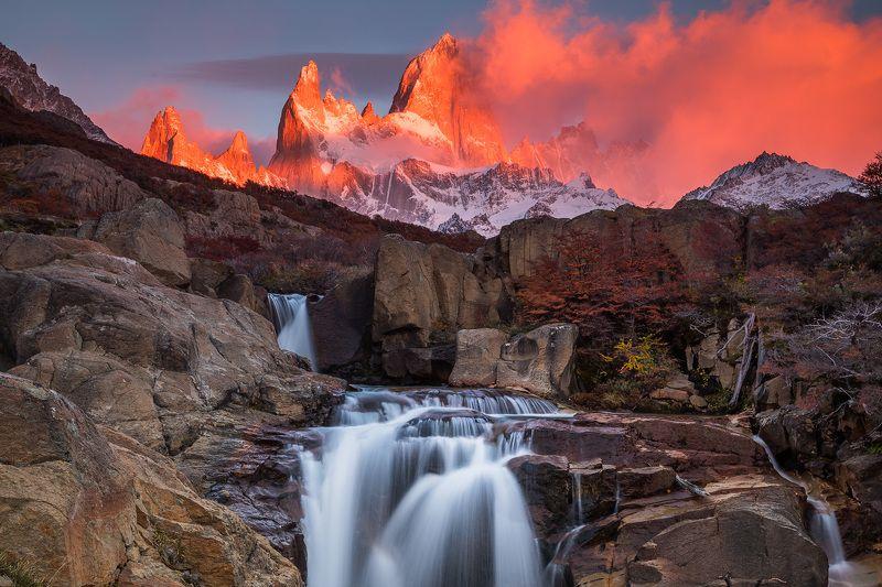 патагония, горы, рассвет, аргентина Montaña de fuegophoto preview