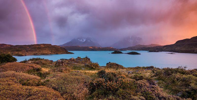 патагония, горы, рассвет, торес дель пайне Разрывая мглуphoto preview