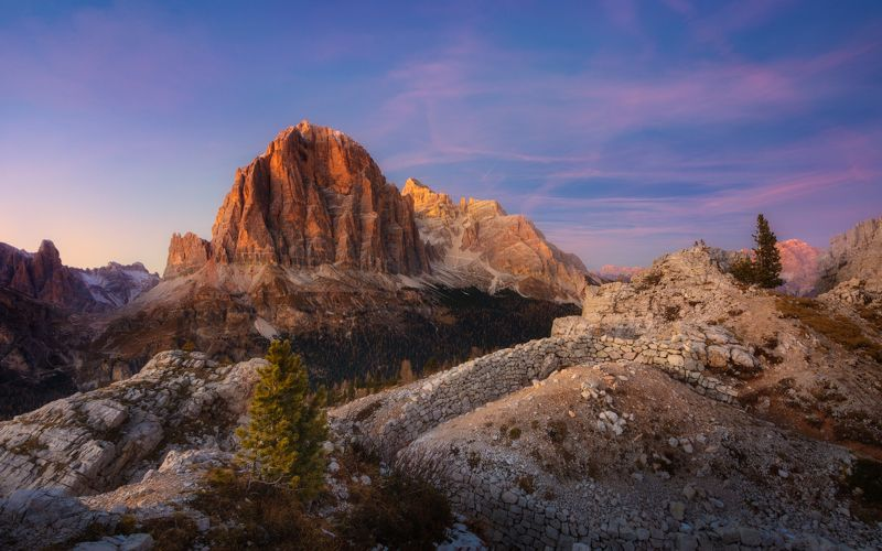 италия вечер горы небо закат облака Вечерняя розаphoto preview