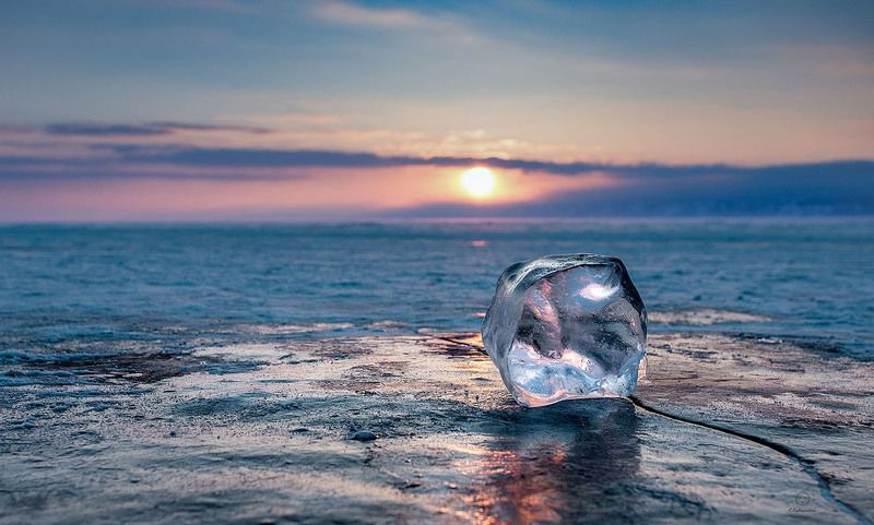 закат, лед, отражение Отражение в закате / Baikalphoto preview