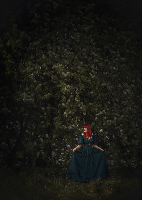 garden, model, nature, spring, flowers, fairytales ***photo preview