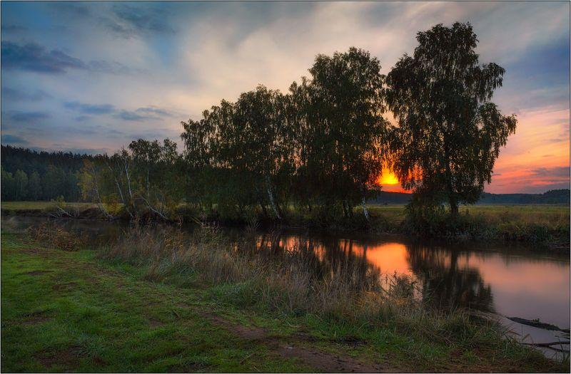 осень, река, рассвет, Когда деревья были большимиphoto preview